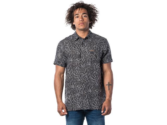 Rip Curl SWC Motif Linen Camisa Manga Corta Hombre, gris
